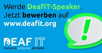 Werden Sie Speaker auf der DeafIT Konferenz 2018!