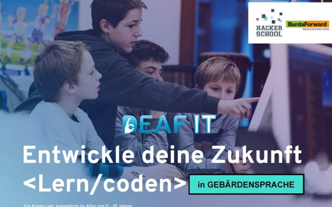 DeafIT Hacker School für Kinder in Gebärdensprache