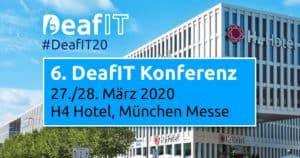 DeafIT Conference 2020 in Munich