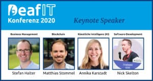 Keynote Speakers of the 6th DeafIT Conference 2020