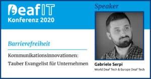 DeafIT20 Speaker Gabriele Serpi