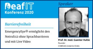 DeafIT Speaker Prof. Dr. med. Guenter Huhle Barrierefreiheit