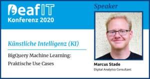 DeafIT20 Speaker Marcus Stade Künstliche Intelligenz