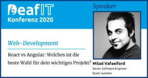 DeafIT20 Speaker Milad Vafaeifard Web-Development
