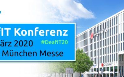 "6. DeafIT Konferenz 2020 in München: ""Diversity & International""."