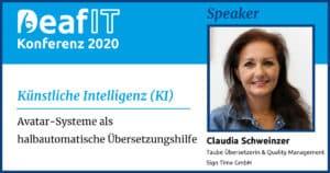 DeafIT20 Speaker Claudia Schweinzer Künstliche Intelligenz