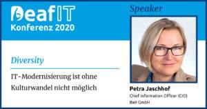 DeafIT2020 Keynote-Speaker Petra Jaschhof Diversity