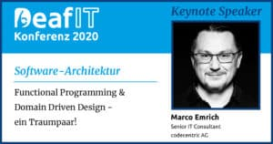 DeafIT2020 Keynote Speaker Marco Emrich Software Architektur DEU