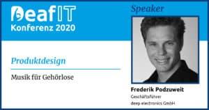 DeafIT2020 Speaker Frederik Podzuweit Produktdesign
