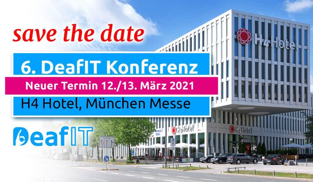 DeafIT2021 Neues Datum