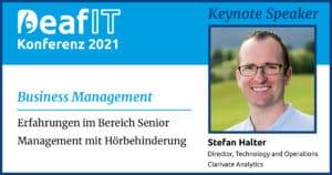 DeafIT 2021 Keynote Speaker Stefan Halter