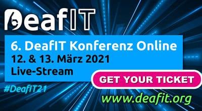 Die erste Konferenz über Live-Stream: Ein Meilenstein der DeafIT Konferenz 2021!
