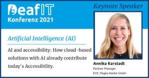DeafIT 2021 Keynote Speaker Annika Karstadt