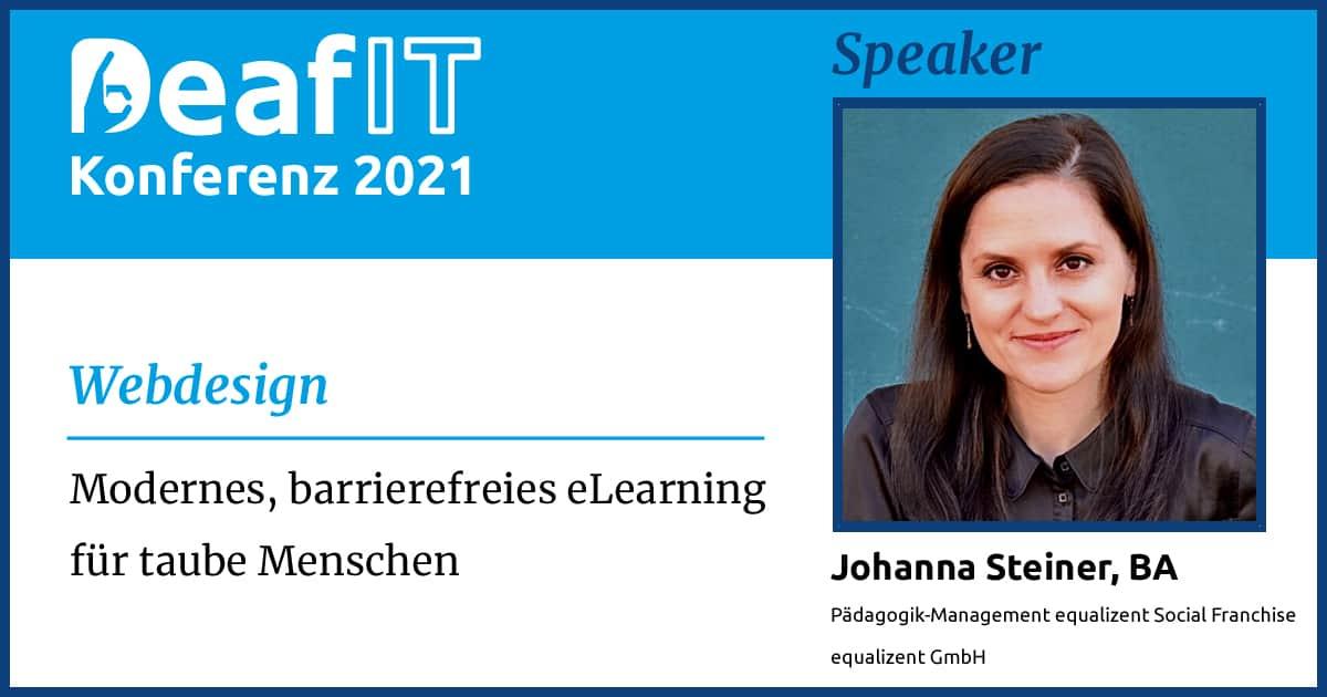 DeafIT 2021 Speaker Johanna Steiner