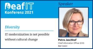 DeafIT 2021 Speaker Petra Jaschhof