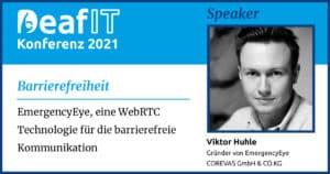 DeafIT 2021 Speaker Guenter Huhle