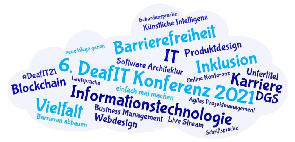 DeafIT Konferenz 2021: Die Schlagwörter